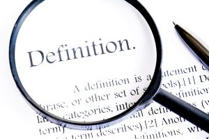 definition text focus word on white background