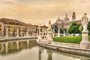Padova - Prato della Valle square and Santa Giustina basilica - Veneto - Italy