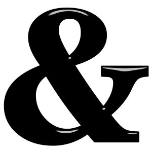 3d ampersand isolated in white