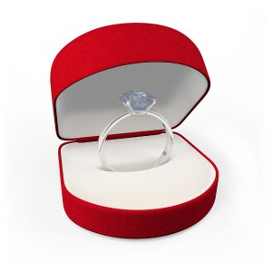 gift box with a diamond ring
