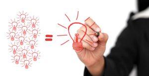 business Hand Writing Big Idea Team for Creativity Team for Brainstorming Concept