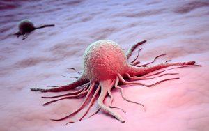 Cancer cell scientific 3d illustration