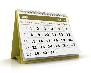 3D desktop calendar 2013 in white background