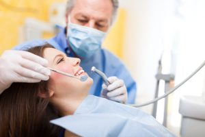 Dentist doing a dental treatment on a patient