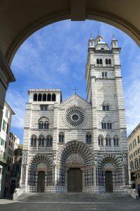 Italy,Ligurian, Genoa, the romanic cathedral of Genoa