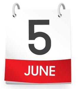 Fifth June.