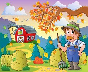 Autumn farm theme 9 - eps10 vector illustration.