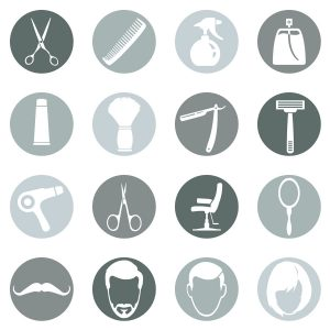 Vector Set of Barber Shop Icons