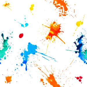 Seamless vector - colorful blots. Splash paint pattern on white background